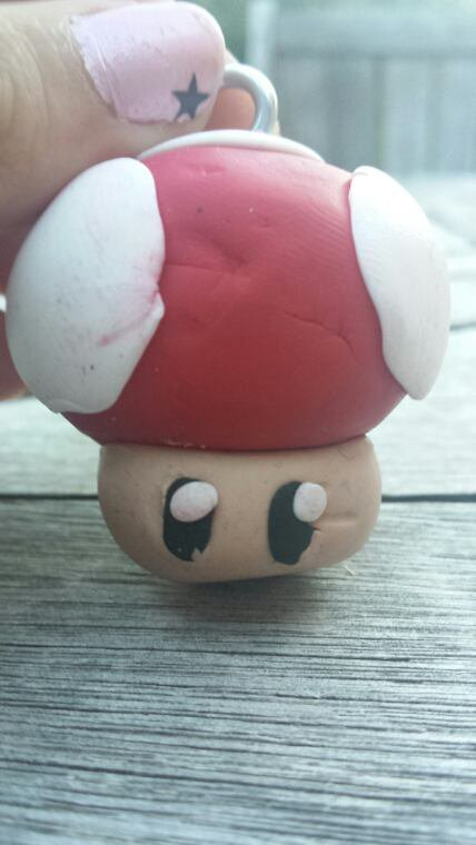 Petit champignon mario en fimo