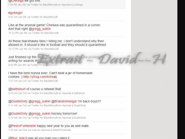 -- # David et Twitter ( suite 3 ) ... #-- De retour de Londres , il est en forme : --