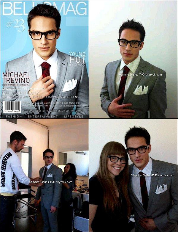 _  Michael a posté sur son twitter 3 photos de lui pendant son photoshoot pour le magazine ' Bello Mag ' dont il en fait la couverture. Les photos officielles ne devraient pas tarder à sortir !