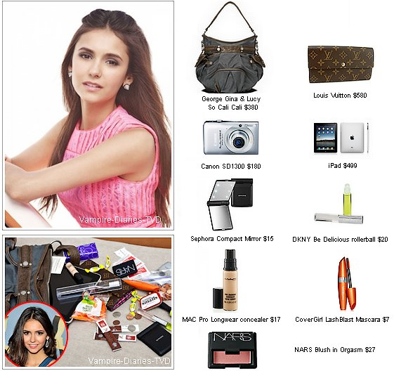 "_  US Weekly : Nina Dobrev ""What's in my bag""  _"