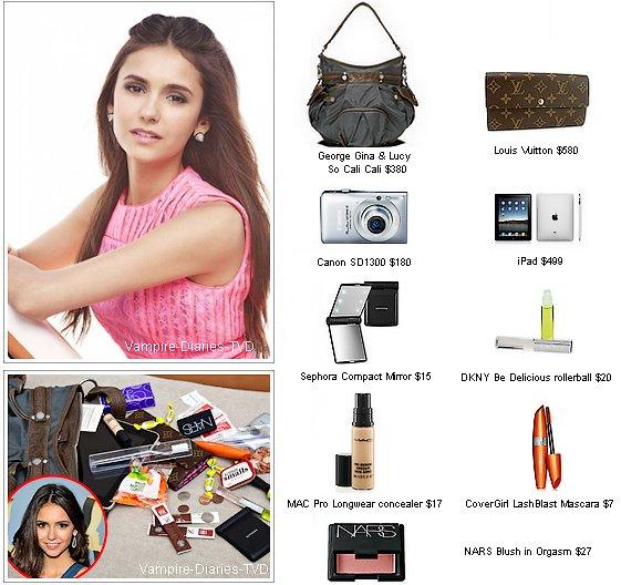"_  US Weekly : Nina Dobrev ""What's in my bag""  _"