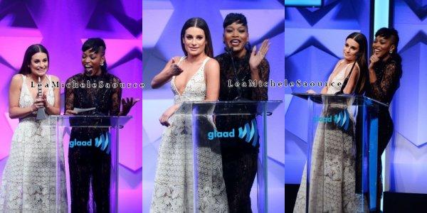 #Evément 1 - Le 02 avril Lea se trouvait au 27 ème annuel GLAAD Media Award qui récompense les ½uvres, médias et personnalités pour leur rôle dans la représentation de la communauté LGBT
