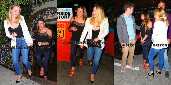 #Candid 9 - Le 25 Mai Léa a était vue en compagnie de Becca Tobin et Robert Buckley (avec qui elle est maintenant en couple) sortant d'un restaurant