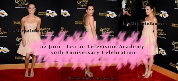 #Evénement 7 - Le 02 Juin Lea était au Television Academy 70th Anniversary Celebration, Los Angeles