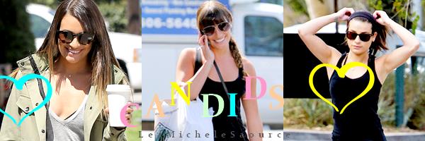 #Candid 28 - Lea a était vue quittant un photoshoot à Hollywood et le soir elle était au concert d'Adele au Staples Center