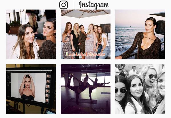 #Instagram 10 - Voici les dernières photos que Lea a posté sur Instagram