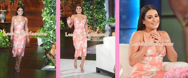 #Apparition TV 1 - Le 26 Septembre Lea était dans l'émission Ellen DeGeneres Show