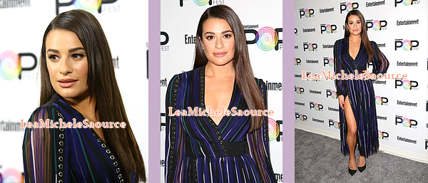 #Evénement 23 - Le 30 Octobre Lea était au Entertainment Weekly PopFest à Los Angeles