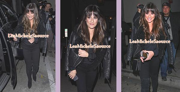 #Candid 59 - Le 11 Janvier Lea a était vue quittant le restaurant Craigs à West Hollywood