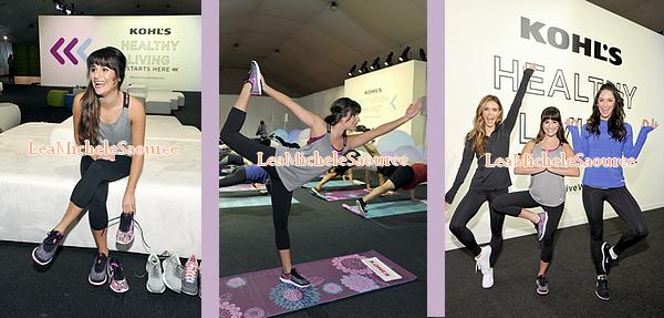 #Evénement 28 - Le 12 Janvier Lea était à l'événement de Kohl's Motivation Market pour y faire quelques exercices