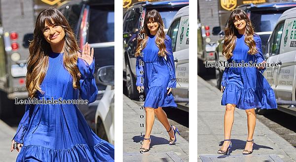 #Candid 72 / Apparition TV 3 / Evénement 38 - Le 28 Avril Lea a était vue arrivant dans les studios de Good Morning America à New York