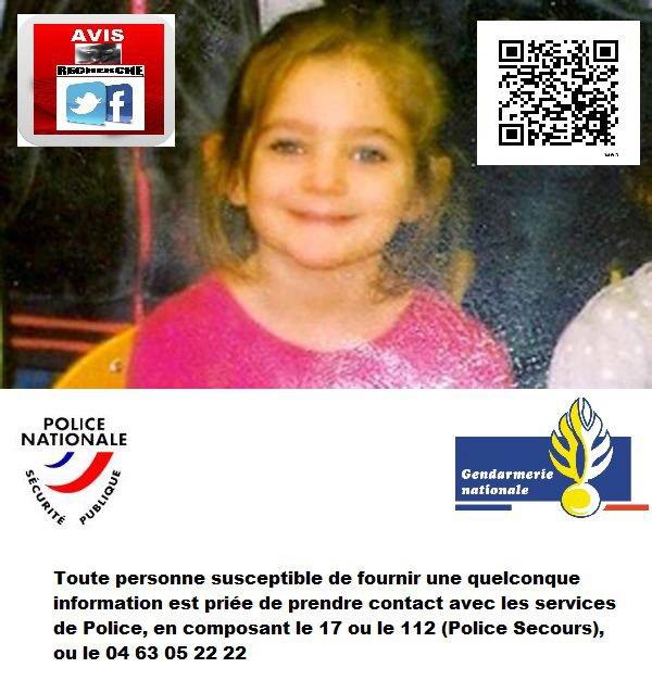 Clermont-Ferrand (63) : Fiona 5 ans a disparu le 12/05/2013