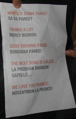 La langue française vue par Matthew Bellamy...