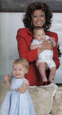 La grand mère et ses petits enfants