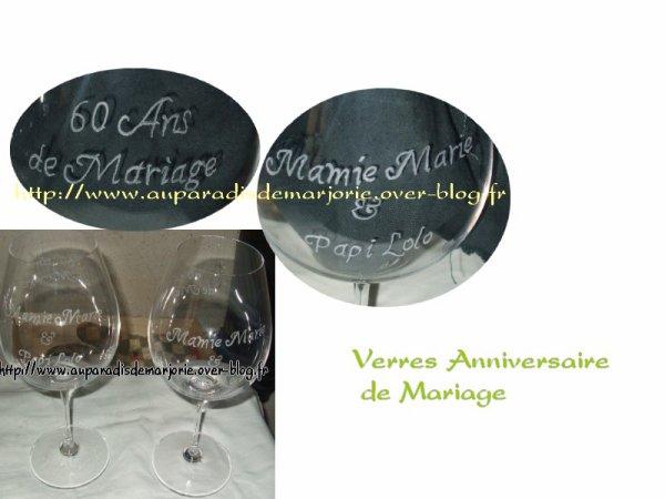 verres anniversaire 60 ans de mariage