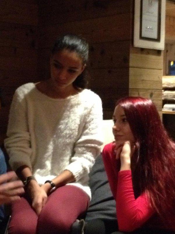 Marine va retrouver les autres miss dont Flora pour faire du ski à Megève 3