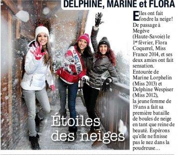 Marine va retrouver les autres miss dont Flora pour faire du ski à Megève 6