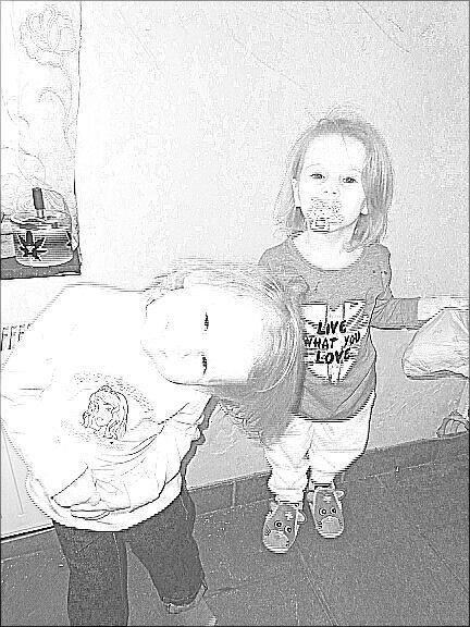 Ma nièce lea et ma fille amelie
