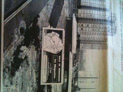 construction du centre commercial la rotonde 1967