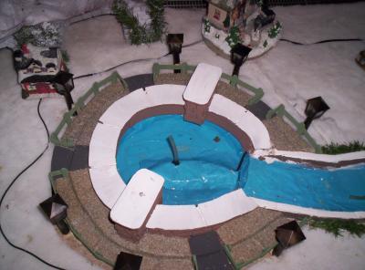 La fontaine village de no l miniature - Fabriquer un village de noel en carton ...