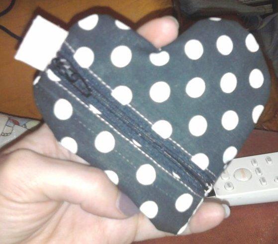 Petite pochette coeur...