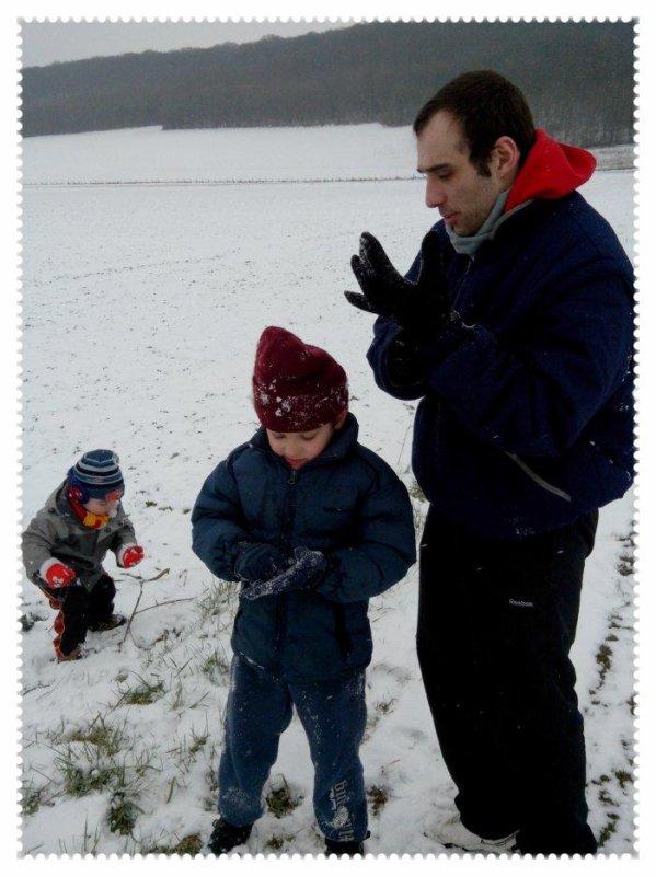 Balade dominicale sous la neige...