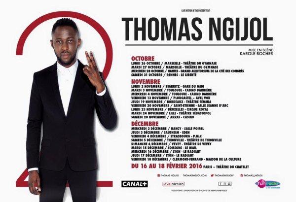 Annonce de la tournée de Thomas dans toute la France
