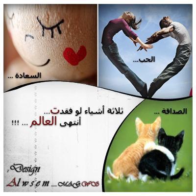 الحب............  السعادة ..............الصداقة
