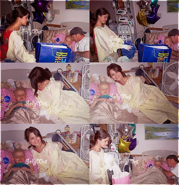 Ҩ Selena s'est rendue à un hôpital de Boston,  pour y rendre visite au enfants malades ! ♥