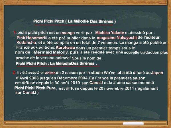 PRESENTATION ANIME: PICHI PICHI PITCH LA MELODIE DES SIRENES
