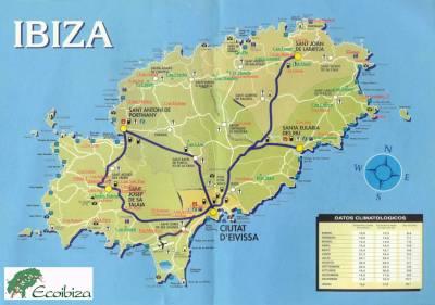 carte d'Ibiza   L'Espagne