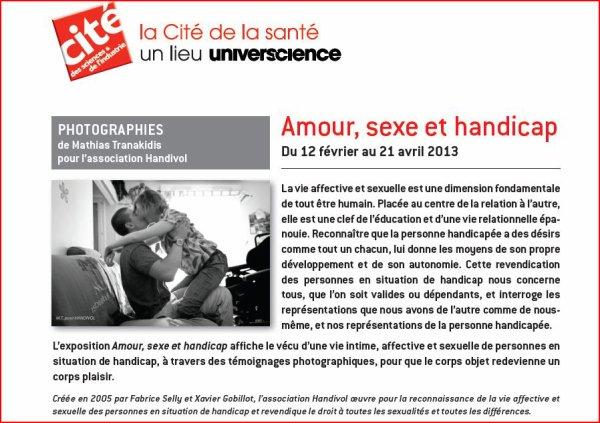 Exposition photo Amour, sexe et handicap à la cité de la santé!