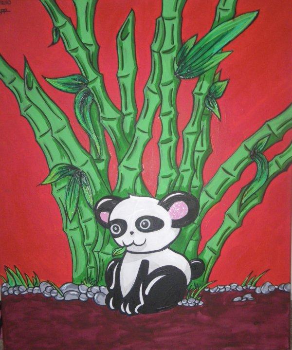 ♫ Spider Panda, Spider Panda, il peut marcher au plafond, est ce qu'il peut fait une toile, bien sur que non c'est un panda ♫