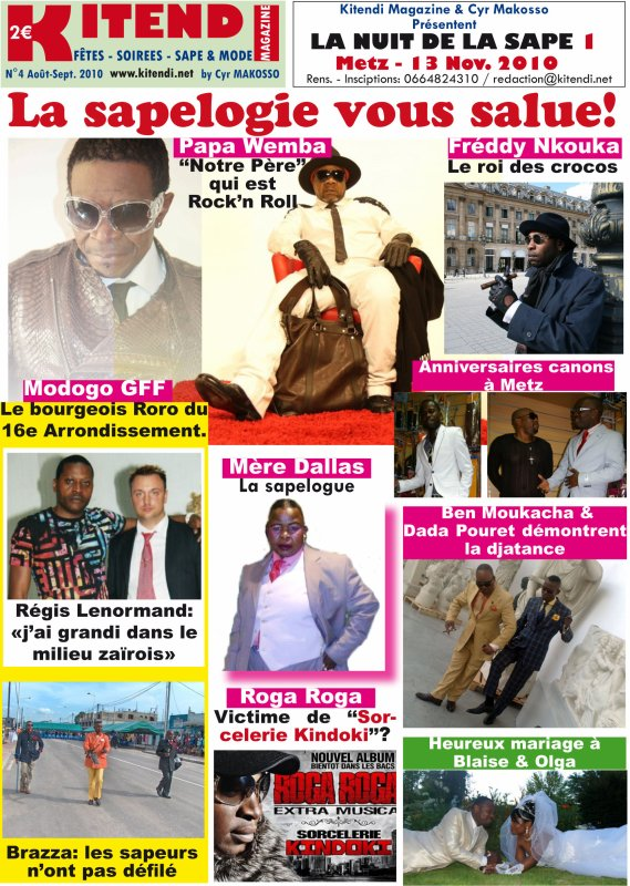 "Modogo ""Gian franco ferre Carrerra Mfumu Mputu  FIGURE CE MOIS CI DANS LE MAGAZINE ""KITENDI"""
