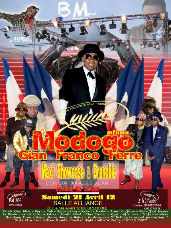 MODOGO GIAN FRANCO FERRE FESTIVAL DE CANNES MASOLO YA TAPIS ROUGE A GRENOBLE avec GLORIA LE GD BULUKUTU