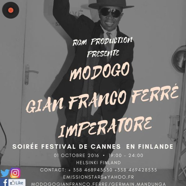 Modogo Gian Franco Ferre sortie du 1er titre le 15/09/2016 FESTIVAL DE CANNES CENTO PER CENTO MODA en Finlande le 1er octobre 2016