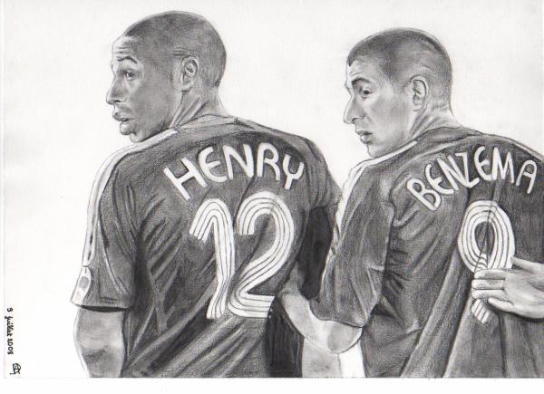 Henry et Benzema