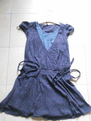 Robe NAFNAF bleu clair et bleu marine