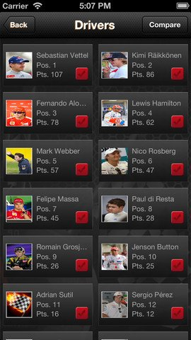 Iphone Application - Raceopedia for all racing fanatics