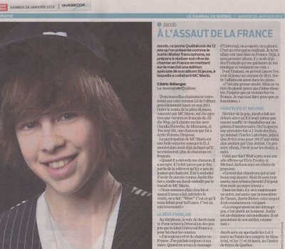 jacob au journal du quebec