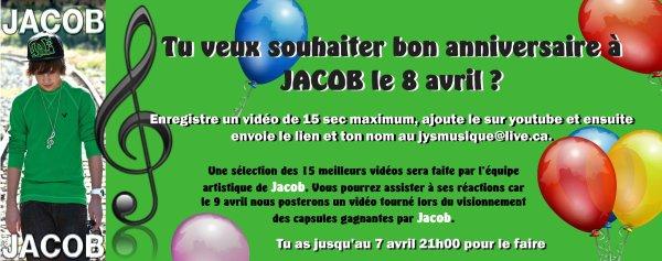 L'anniversaire de Jacob ♥ et de moi-même