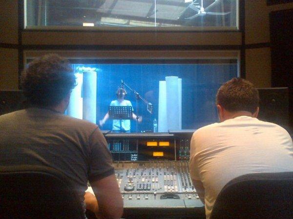 l'enregistrement, en studio, de son prochain hit :)