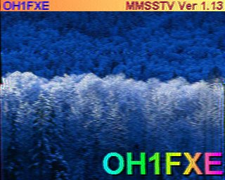 Images recues en SSTV.