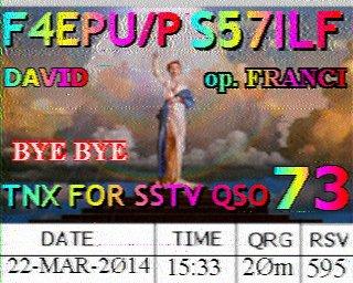QSO en SSTV.