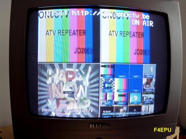 Réception du relais DATV ON0CTV.