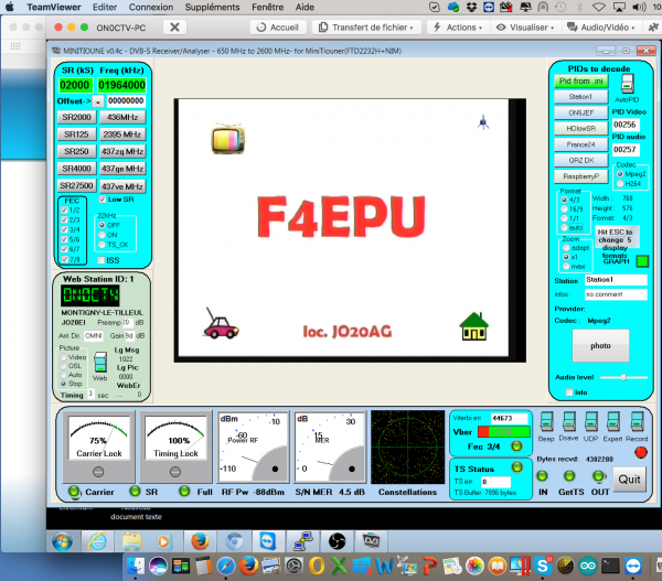 Liaison DATV UHF.