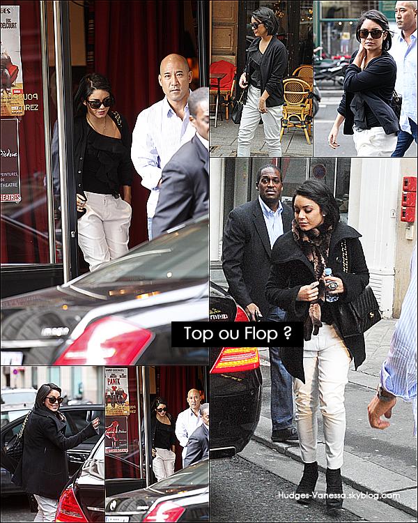 _ 14.02.2012 : Vanessa a été vue faisant les boutiques en passant par Chanel & Point Plume dans Paris, France.  _