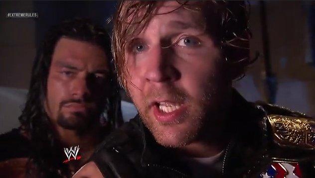 Message de The Shield après Extreme Rules