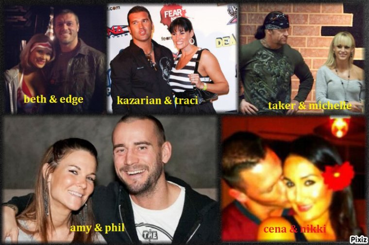 les couples a la wwe & tna