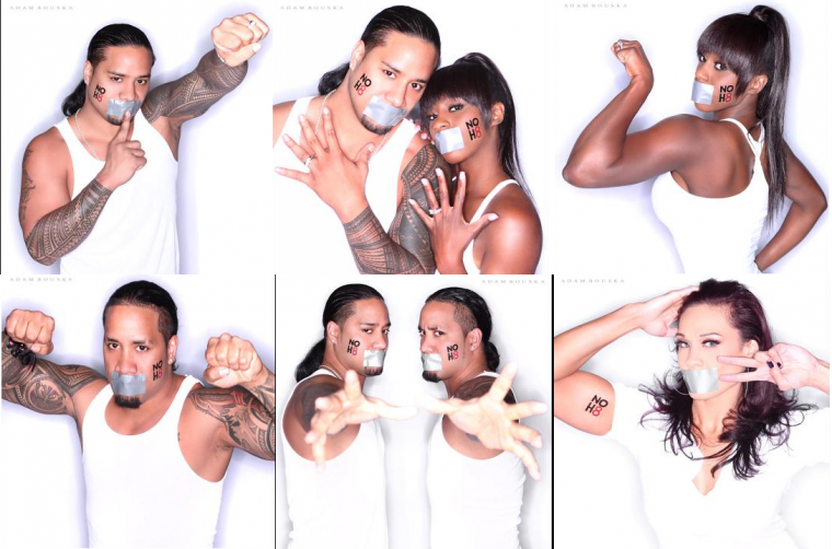 WWE SUPERSTARS AND DIVAS JOIN THE NOH8 CAMPAIGN: PHOTOS